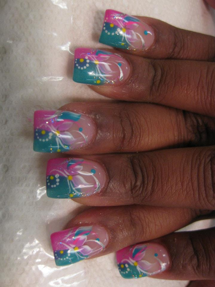 - Wispy Lily, Nail Art Designs By Top Nails, Clarksville TN. Top Nails