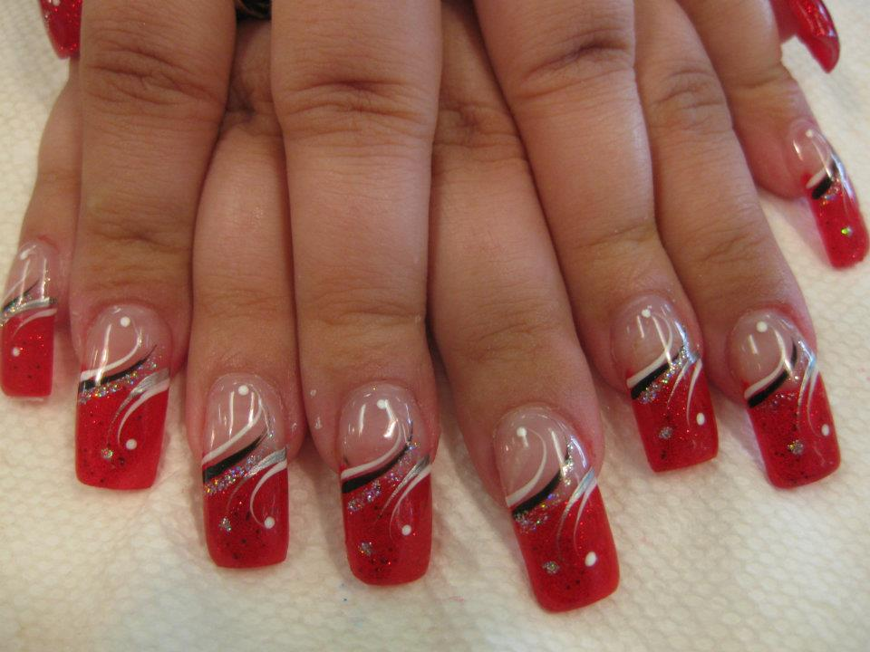 black red and silver nail designs wwwpixsharkcom
