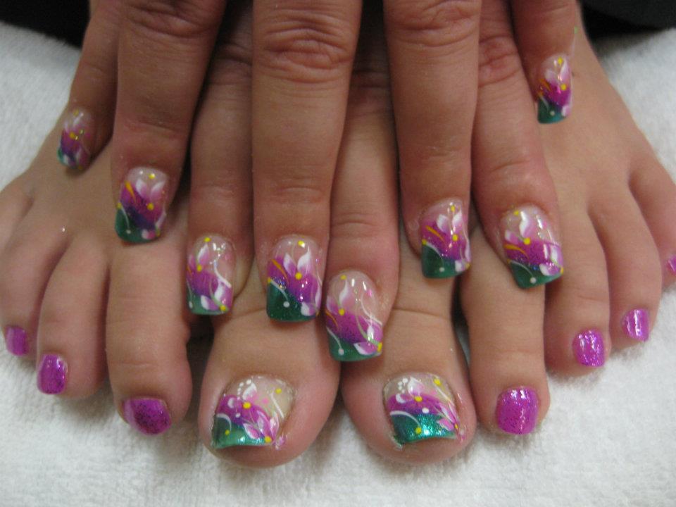 Aussie Coast Nail Art Design By Top Nails Clarksville Tn
