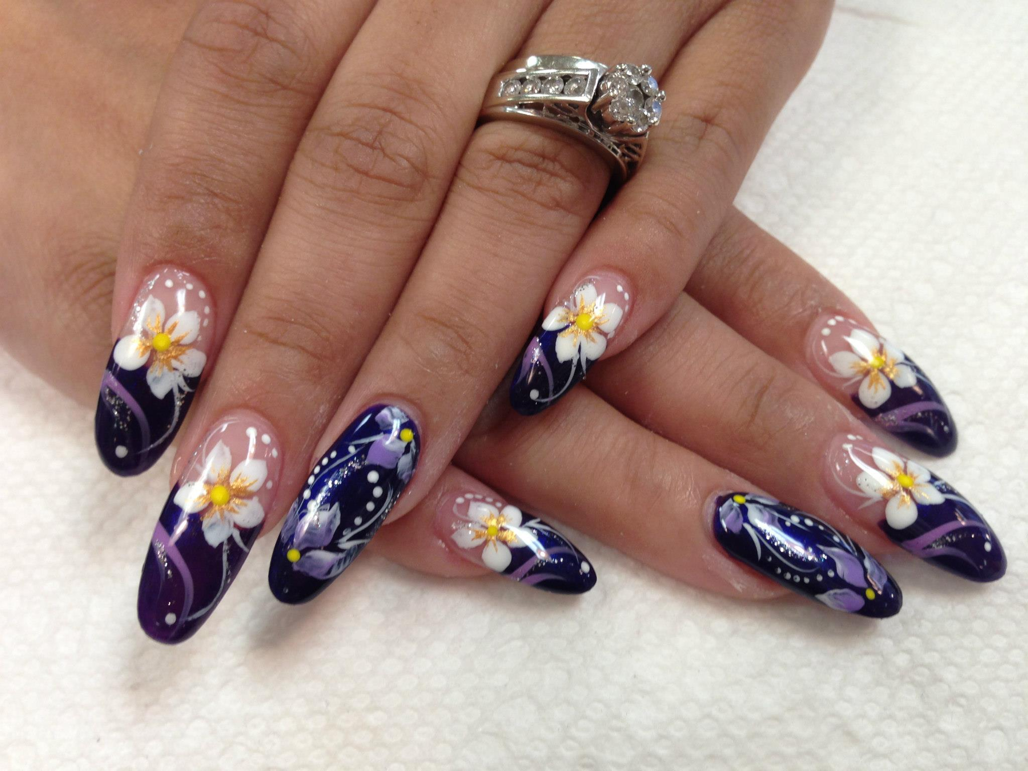 nail nails designs royal faberge clarksville tn salon spa exquisite tip purple topnails