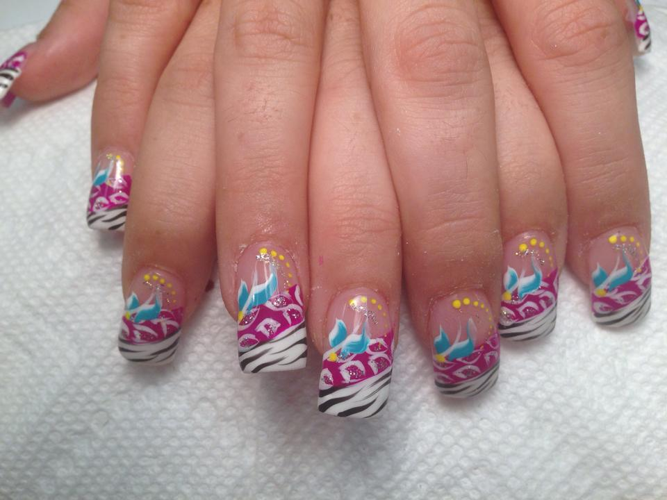 Nail Art Design Zebra Hession Hairdressing