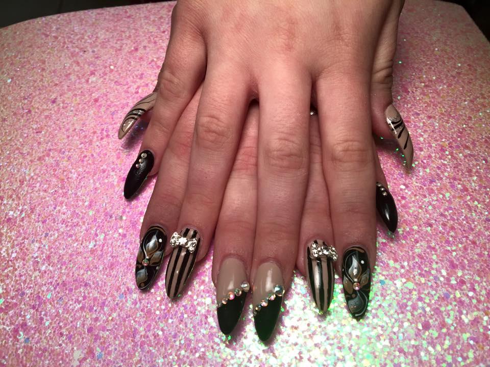 Beautiful Diamond Nails Salinas Images - Nail Art Ideas - morihati.com