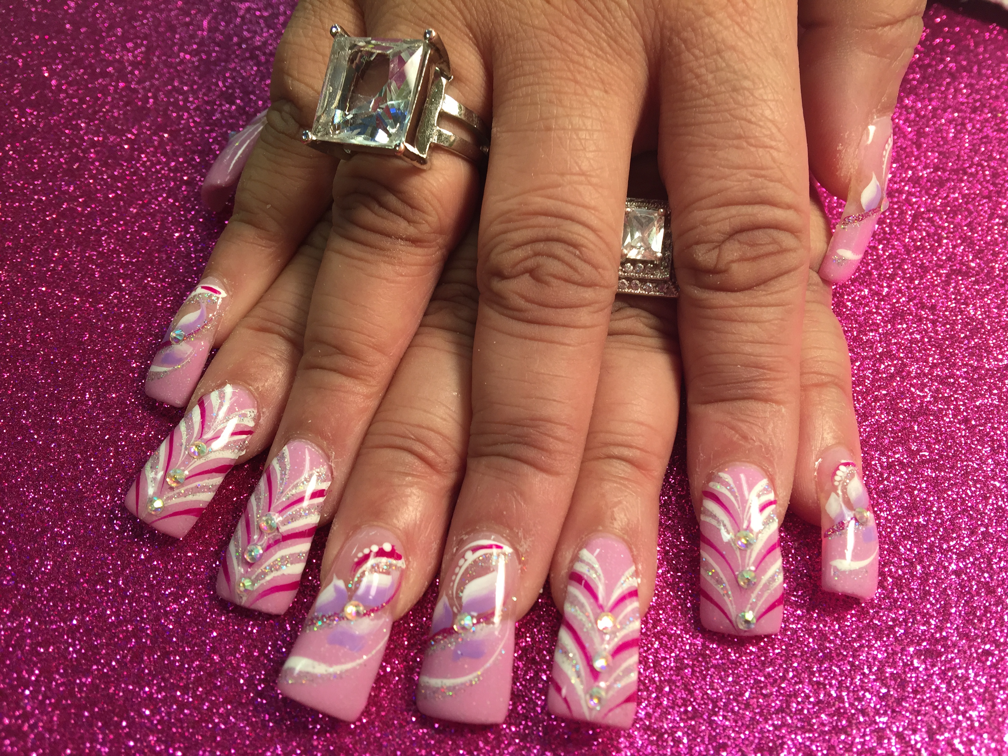 enchanting light pink and white nails pictures nail art