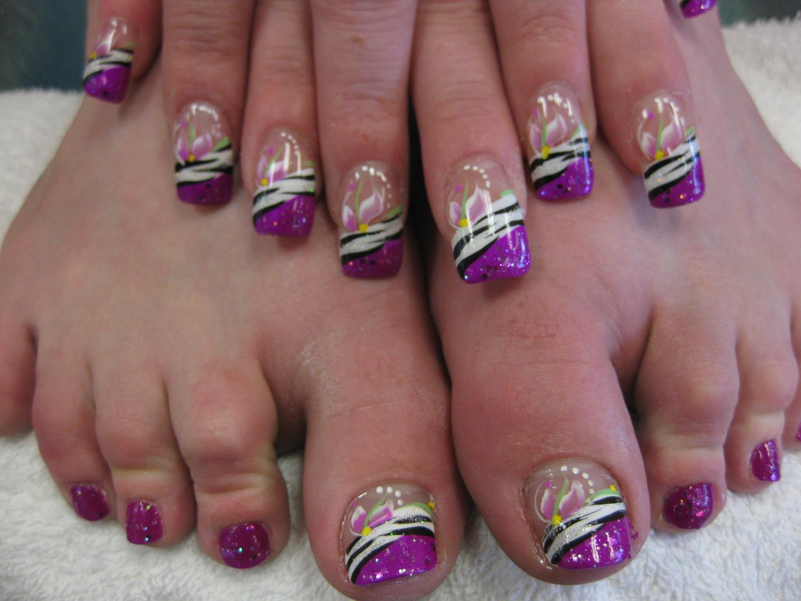 African Mardi Gras Nail Art Design By Top Nails Clarksville Tn
