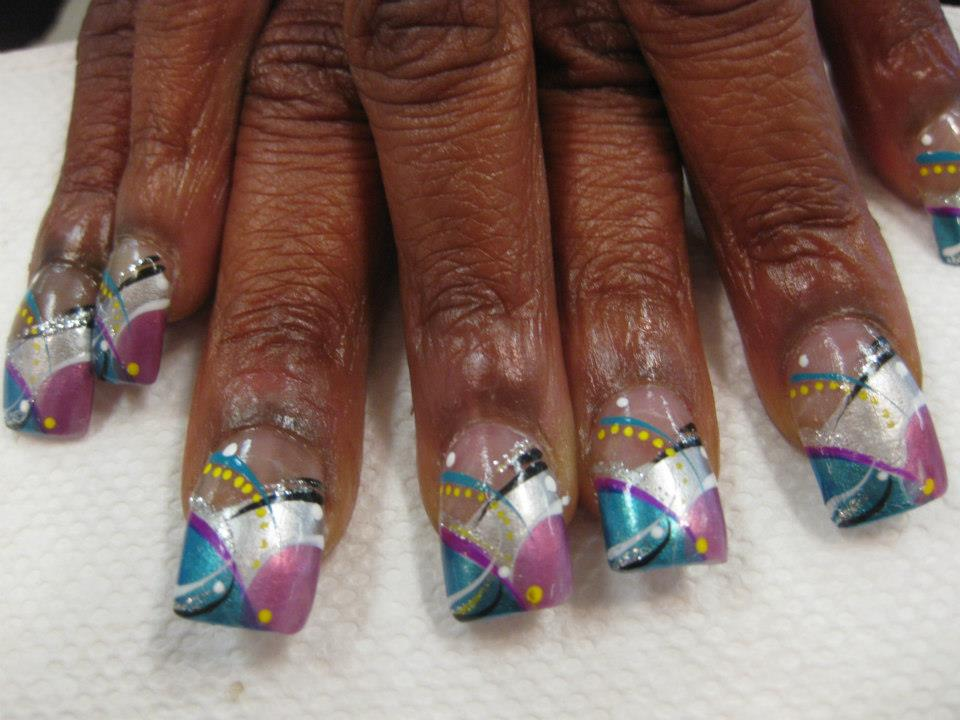 Bold And The Beautiful Nail Art Design By Top Nails Clarksville Tn