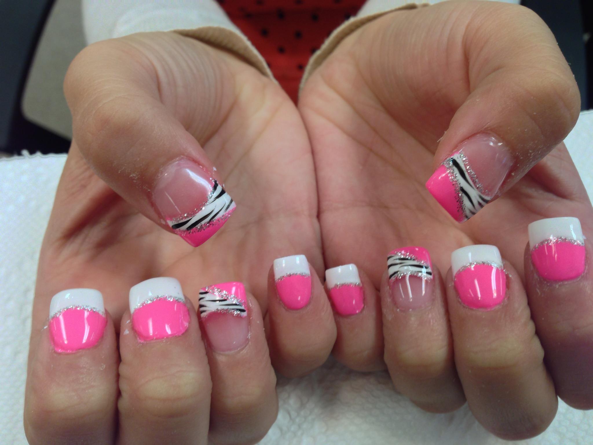 Hidden Pink Zebra Nail Art Designs By Top Nails Clarksville Tn Top Nails