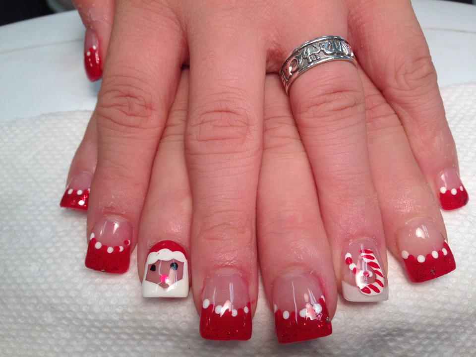 Santas Comin To Town Nail Art Design By Top Nails Clarksville Tn